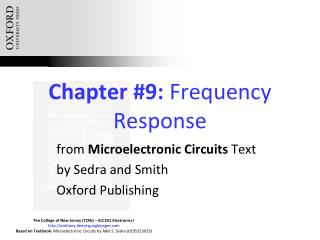 Chapter #9:  Frequency Response