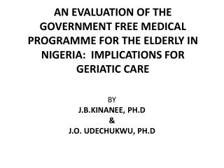 Geriatric Care 2007