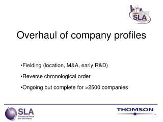 Overhaul of company profiles