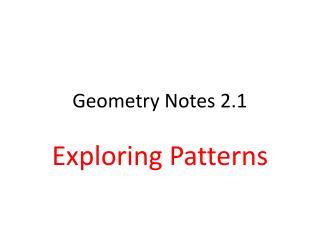 Geometry Notes 2.1