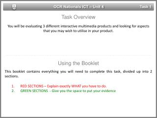OCR Nationals ICT – Unit 4