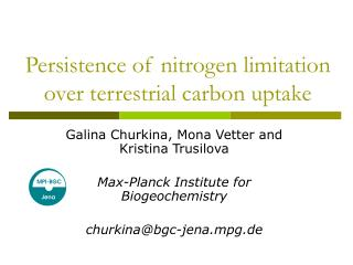 Persistence of nitrogen limitation over terrestrial carbon uptake