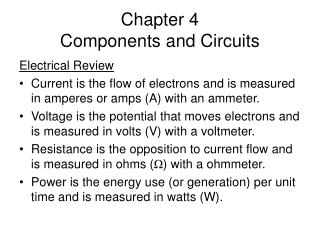 Chapter 4 Components and Circuits