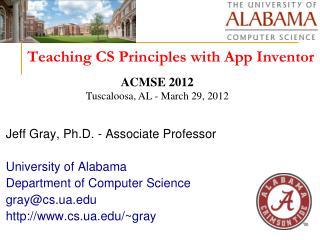 Teaching CS Principles with App Inventor