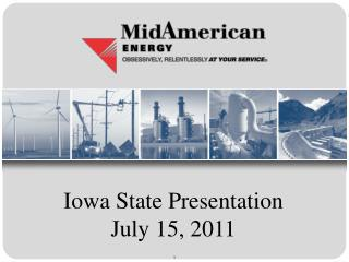 Iowa State Presentation July 15, 2011