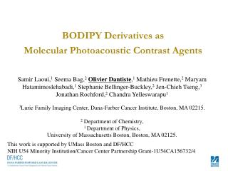 BODIPY Derivatives  as  Molecular  Photoacoustic  Contrast Agents