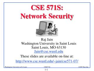 CSE 571S:  Network Security