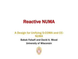 Reactive NUMA