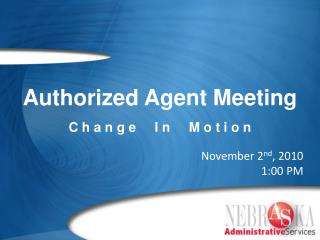 Authorized Agent Meeting
