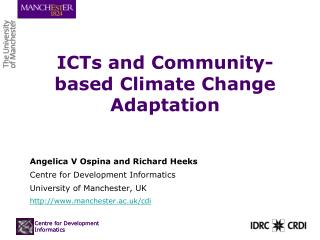 ICTs and Community-based Climate Change Adaptation