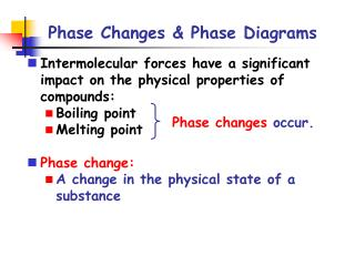 Phase Changes & Phase Diagrams
