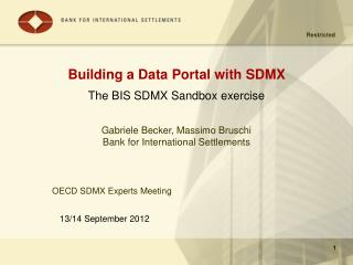 Building a Data Portal with SDMX