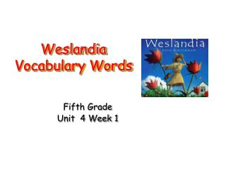 Weslandia Vocabulary Words