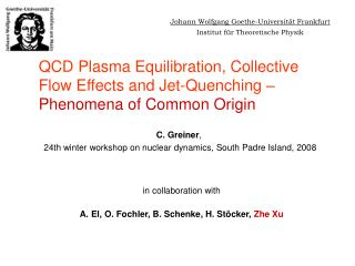 QCD Plasma Equilibration, Collective Flow Effects and Jet-Quenching – Phenomena of Common Origin