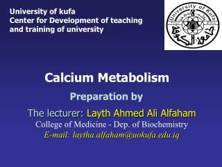 Calcium Metabolism Preparation by