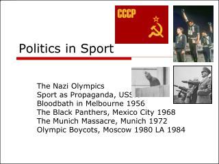Politics in Sport