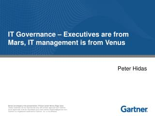 IT Governance – Executives are from Mars, IT management is from Venus