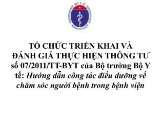 T CHC TRIN KHAI V     NH GI  THC HIN TH NG TU s 07