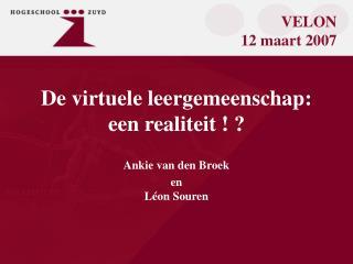 De virtuele leergemeenschap:  een realiteit ! ?