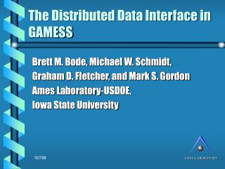 The Distributed Data Interface in GAMESS