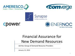 Financial Assurance for New Demand Resources