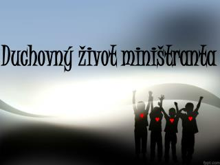 Duchovný život miništranta