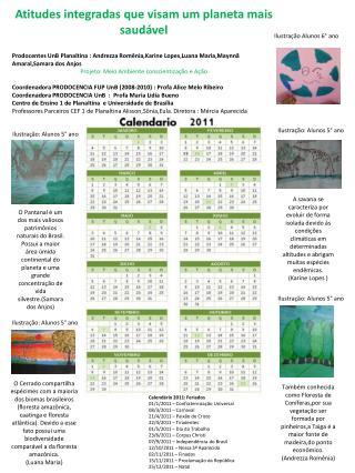 Calendário 2011: Feriados