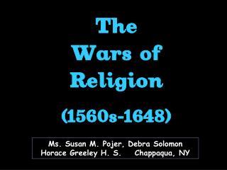 Ms. Susan M. Pojer, Debra Solomon Horace Greeley H. S.    Chappaqua, NY