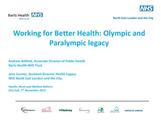 Working for Better Health: Olympic and Paralympic legacy