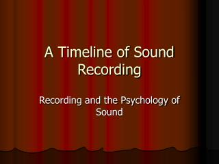 A Timeline of Sound Recording