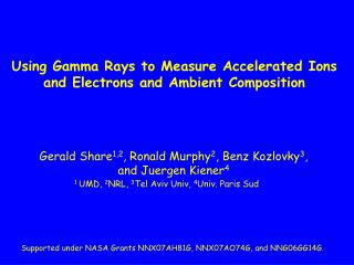 Using Gamma Rays to Measure Accelerated Ions and Electrons and Ambient Composition