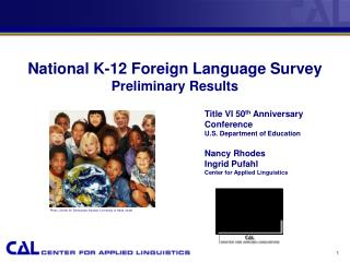 National K-12 Foreign Language Survey  Preliminary Results