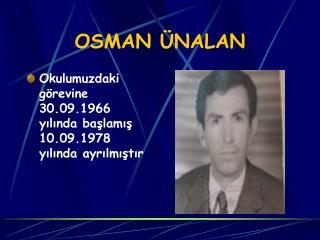 OSMAN �NALAN