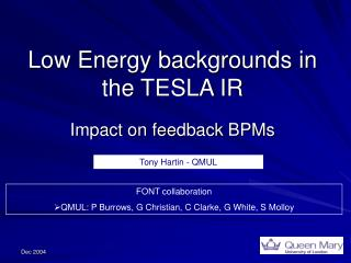 Low Energy backgrounds in the TESLA IR