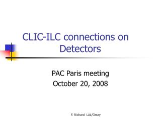 CLIC-ILC connections on                   Detectors