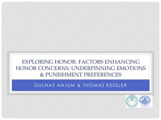 EXPLORING HONOR: FACTORS ENHANCING HONOR CONCERNS; UNDERPINNING EMOTIONS & PUNISHMENT PREFERENCES