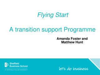Flying  Start  A transition support Programme