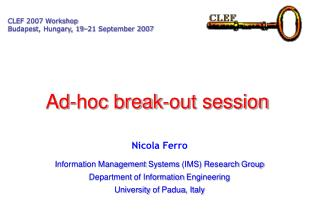 Ad-hoc break-out session