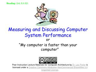 Measuring and Discussing Computer System Performance