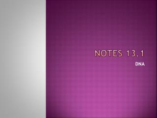 Notes 13.1