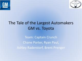 The Tale of the Largest Automakers GM vs. Toyota