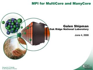 MPI for MultiCore and ManyCore