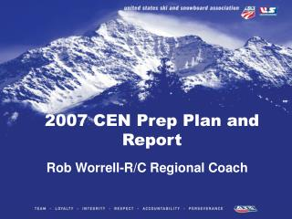 2007 CEN Prep Plan and Report