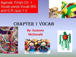 Chapter 1  Vocab