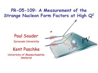 PR-05-109: A Measurement of the Strange Nucleon Form Factors at High Q 2