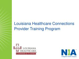 Louisiana Healthcare Connections Provider Training Program