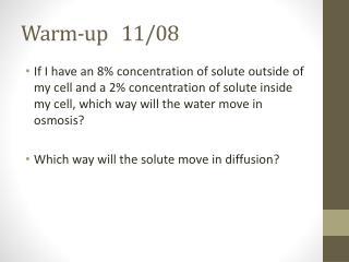 Warm-up    11/08
