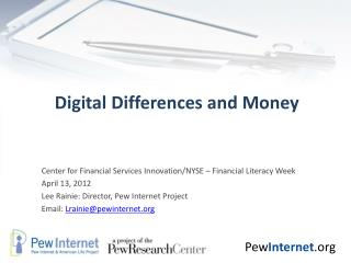 Digital Differences and Money