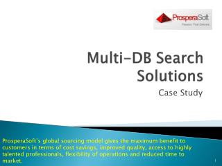 Multi-DB Search Solutions
