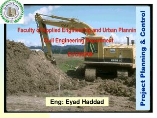 Faculty of Applied Engineering and Urban Planning Civil Engineering Department ECCS5209